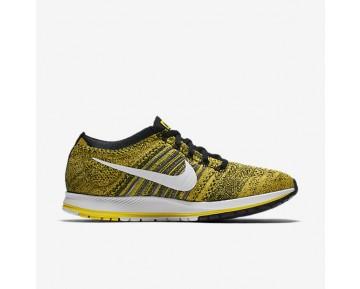 Chaussure Nike Zoom Flyknit Streak Pour Femme Running Jaune Strike/Noir/Blanc_NO. 883299-701