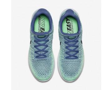 Chaussure Nike Lunarepic Low Flyknit 2 Pour Femme Running Bleu Lune/Vert Vapeur/Vert Phosphorescent/Obsidienne Foncée_NO. 863780-403