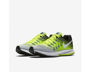 Chaussure Nike Air Zoom Pegasus 33 Pour Femme Running Argent Mat/Volt/Noir/Blanc_NO. 831356-007