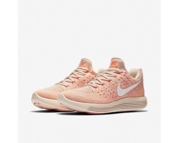Chaussure Nike Lunarepic Low Flyknit 2 Iwd Pour Femme Running Orange Pâle/Hyper Orange/Crépuscule Brillant/Blanc_NO. 881674-801