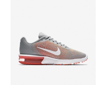 Chaussure Nike Air Max Sequent 2 Pour Femme Running Gris Loup/Mangue Brillant/Crépuscule Brillant/Blanc_NO. 852465-005