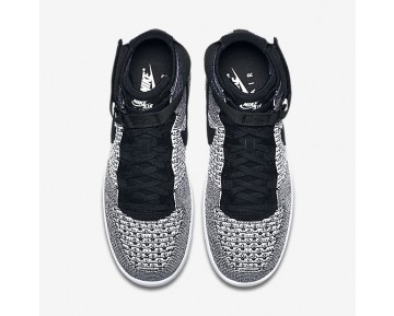 Chaussure Nike Air Force 1 Ultra Flyknit Pour Homme Lifestyle Noir/Blanc/Noir_NO. 817420-005