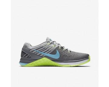 Chaussure Nike Metcon Dsx Flyknit Pour Femme Fitness Et Training Gris Foncé/Vert Ombre/Gris Loup/Bleu Polarisé_NO. 849809-004