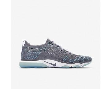 Chaussure Nike Zoom Fearless Flyknit Pour Femme Fitness Et Training Gris Froid/Bleu Polarisé/Blanc_NO. 850426-004