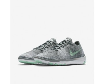 Chaussure Nike Free Focus Flyknit 2 Pour Femme Fitness Et Training Gris Froid/Blanc/Vert Arctique_NO. 880630-003