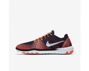 Chaussure Nike Free Focus Flyknit 2 Pour Femme Fitness Et Training Violet Majestueux/Mangue Brillant/Volt/Blanc_NO. 880630-501