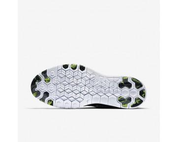 Chaussure Nike Free Tr 5 Flyknit Pour Femme Fitness Et Training Noir/Blanc/Volt/Noir_NO. 718785-004