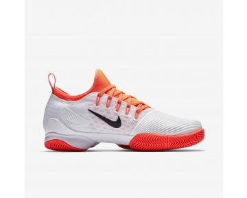 Chaussure Nike Court Air Zoom Ultra React Pour Femme Tennis Blanc/Hyper Orange/Noir_NO. 859718-100