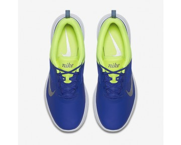 Chaussure Nike Akamai Pour Femme Golf Bleu Souverain/Volt/Argent Métallique_NO. 818732-401