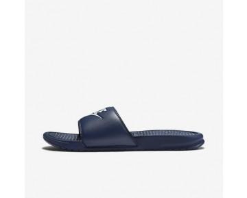 Chaussure Nike Benassi Pour Homme Lifestyle Bleu Nuit Marine/Refroidissement Éolien_NO. 343880-403