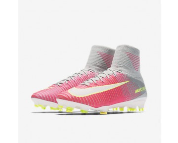 Chaussure Nike Mercurial Superfly V Fg Pour Femme Football Hyper Rose/Gris Loup/Aigre/Blanc_NO. 844226-610