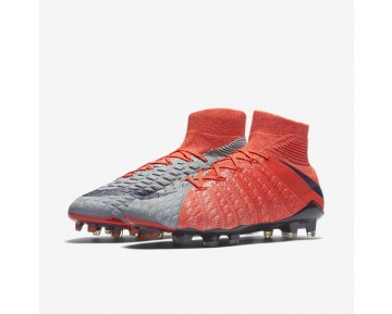 Chaussure Nike Hypervenom Phantom 3 Df Fg Pour Femme Football Gris Loup/Orange Max/Melon Brillant/Violet Dynastie_NO. 881545-058