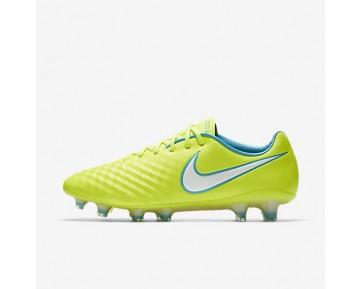 Chaussure Nike Magista Opus Ii Fg Pour Femme Football Volt/Jaune Pâle Électrique/Bleu Chlorine/Blanc_NO. 844218-717