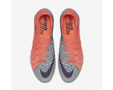 Chaussure Nike Hypervenom Phantom 3 Fg Pour Femme Football Gris Loup/Orange Max/Melon Brillant/Violet Dynastie_NO. 881543-058