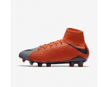 Chaussure Nike Hypervenom Phatal 3 Df Fg Pour Femme Football Gris Froid/Orange Max/Violet Dynastie_NO. 881546-058