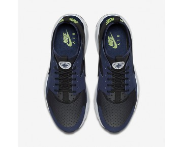 Chaussure Nike Air Huarache Ultra Pour Homme Lifestyle Bleu Nuit Marine/Noir/Platine Pur/Vert Ombre_NO. 819685-403