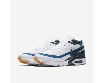 Chaussure Nike Air Max Bw Ultra Pour Homme Lifestyle Blanc/Bleu Industriel/Jaune Gomme/Marine Arsenal_NO. 819475-100