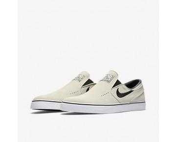 Chaussure Nike Sb Zoom Stefan Janoski Slip-On Pour Homme Lifestyle Beige Clair/Blanc/Noir/Noir_NO. 833564-002