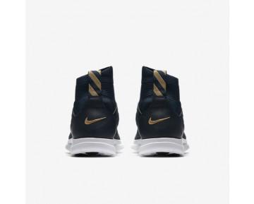 Chaussure Nike Free Hypervenom Iii Fc Flyknit Pour Homme Lifestyle Bleu Marine Collège/Renard Bleu/Rouge Piste/Or Métallique_NO. 898029-400