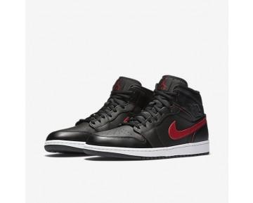Chaussure Nike Air Jordan 1 Mid Pour Homme Lifestyle Noir/Rouge Équipe/Blanc/Rouge Équipe_NO. 554724-009