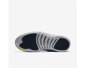 Chaussure Nike Air Jordan 12 Retro Low Pour Homme Lifestyle Gris Loup/Vert Citron Électrique/Marine Arsenal_NO. 308317-002