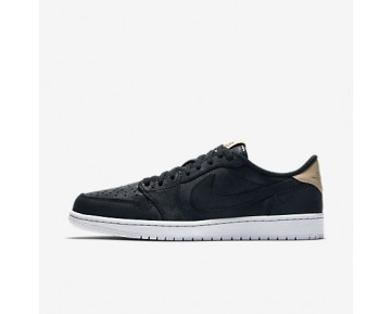 Chaussure Nike Air Jordan 1 Retro Low Og Premium Pour Homme Lifestyle Noir/Blanc/Brun Vachette_NO. 905136-010