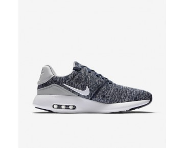 Chaussure Nike Air Max Modern Flyknit Pour Homme Lifestyle Bleu Marine Collège/Gris Loup/Blanc_NO. 876066-400