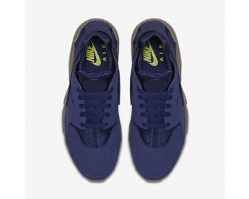 Chaussure Nike Air Huarache Se Pour Homme Lifestyle Bleu Binaire/Champignon Foncé/Vert Citron Électrique/Bleu Binaire_NO. 852628-400