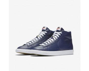Chaussure Nike Blazer Mid Premium 09 Pour Homme Lifestyle Bleu Binaire/Noir/Gomme Marron Clair/Blanc_NO. 429988-402