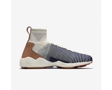 Chaussure Nike Zoom Mercurial Flyknit Pour Homme Lifestyle Voile/Gris Pâle/Gomme Marron/Bleu Marine Collège_NO. 844626-101