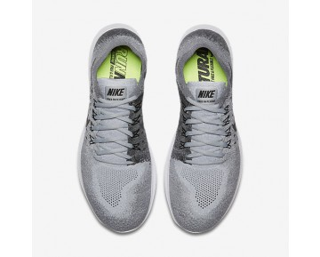 Chaussure Nike Free Rn Flyknit 2017 Pour Homme Running Gris Loup/Anthracite/Gris Froid/Noir_NO. 880843-002