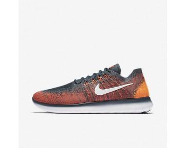 Chaussure Nike Free Rn Flyknit 2017 Pour Homme Running Renard Bleu/Cramoisi Total/Orange Total/Blanc_NO. 880843-401