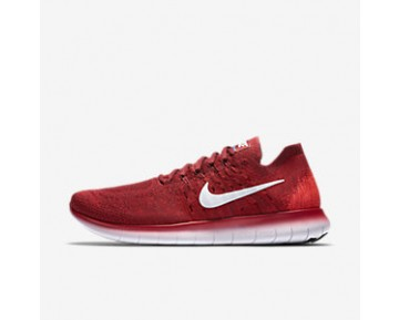 Chaussure Nike Free Rn Flyknit 2017 Pour Homme Running Rouge Équipe/Rouge Université/Cramoisi Brillant/Platine Pur_NO. 880843-600