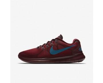 Chaussure Nike Free Rn 2017 Pour Homme Running Cèdre/Bordeaux Nuit/Bleu Industriel_NO. 880839-600