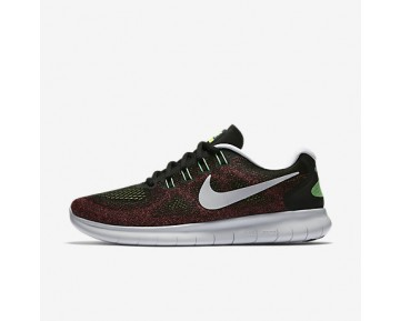 Chaussure Nike Free Rn 2017 Pour Homme Running Noir/Rouge Cocktail/Bleu Chlorine/Noir_NO. 880839-005