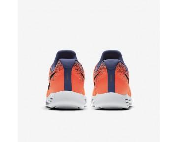 Chaussure Nike Lunarepic Low Flyknit 2 Pour Homme Running Bleu Lune/Hyper Orange/Bleu Toile/Noir_NO. 863779-403