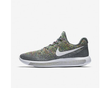 Chaussure Nike Lunarepic Low Flyknit 2 Pour Homme Running Gris Froid/Volt/Bleu Rayonnant/Blanc_NO. 863779-003