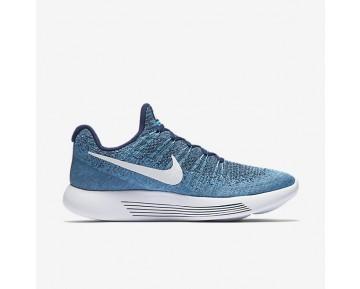 Chaussure Nike Lunarepic Low Flyknit 2 Pour Homme Running Bleu Binaire/Bleu Chlorine/Brouillard D'Océan/Blanc_NO. 863779-402