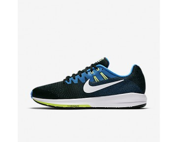 Chaussure Nike Air Zoom Structure 20 Pour Homme Running Noir/Bleu Photo/Vert Ombre/Blanc_NO. 849576-004