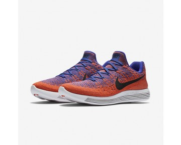 Chaussure Nike Lunarepic Low Flyknit 2 Pour Homme Running Bleu Souverain/Orange Max/Hyper Orange/Noir_NO. 863779-401
