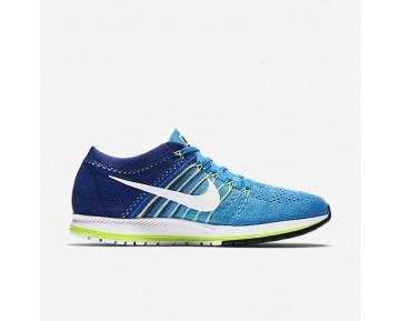 Chaussure Nike Zoom Flyknit Streak Pour Homme Running Bleu Rayonnant/Bleu Royal Profond/Vert Ombre/Blanc_NO. 835994-414