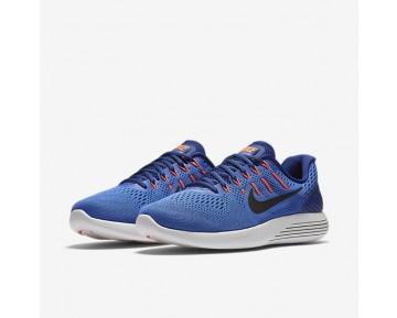 Chaussure Nike Lunarglide 8 Pour Homme Running Bleu Moyen/Bleu Royal Profond/Hyper Orange/Noir_NO. 843725-403