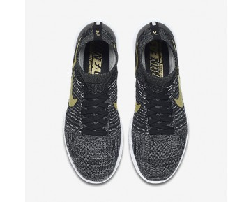 Chaussure Nike Lunarepic Flyknit Bhm Pour Homme Running Noir/Blanc/Étoile D'Or Métallique_NO. 881681-007