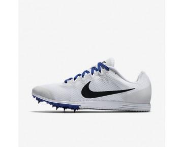 Chaussure Nike Zoom Rival D 9 Pour Homme Running Blanc/Bleu Coureur/Noir_NO. 806556-100
