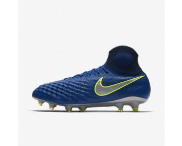 Chaussure Nike Magista Obra Ii Fg Pour Homme Football Bleu Royal Profond/Cramoisi Total/Zeste D'Agrumes/Chrome_NO. 844595-409