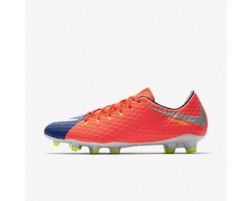 Chaussure Nike Hypervenom Phelon 3 Fg Pour Homme Football Bleu Royal Profond/Cramoisi Total/Zeste D'Agrumes/Chrome_NO. 852556-409