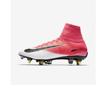 Chaussure Nike Mercurial Superfly V Dynamic Fit Sg-Pro Anti-Clog Pour Homme Football Rose Coureur/Blanc/Noir_NO. 889286-601