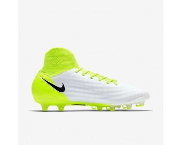 Chaussure Nike Magista Orden Ii Ag-Pro Pour Homme Football Blanc/Volt/Platine Pur/Noir_NO. 843811-109