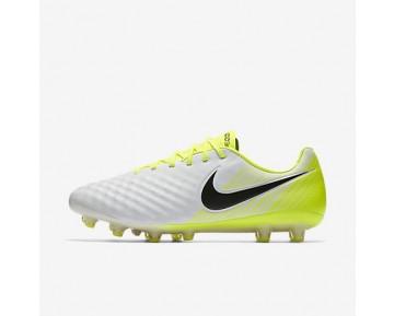 Chaussure Nike Magista Opus Ii Ag-Pro Pour Homme Football Blanc/Volt/Gris Loup/Noir_NO. 843814-107