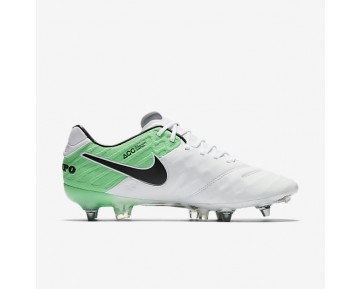 Chaussure Nike Tiempo Legend Vi Sg-Pro Pour Homme Football Blanc/Vert Electro/Noir_NO. 819680-103
